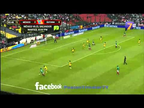México vs Guyana 3-1 Eliminatorias de Concacaf 2012 TV AZTECA HD 07/06/12