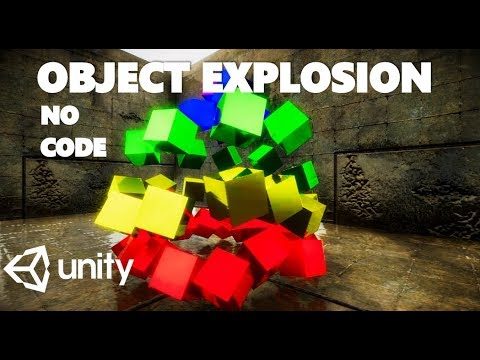 HOW TO CREATE AN OBJECT EXPLOSION EFFECT WITHOUT CODE IN UNITY TUTORIAL thumbnail