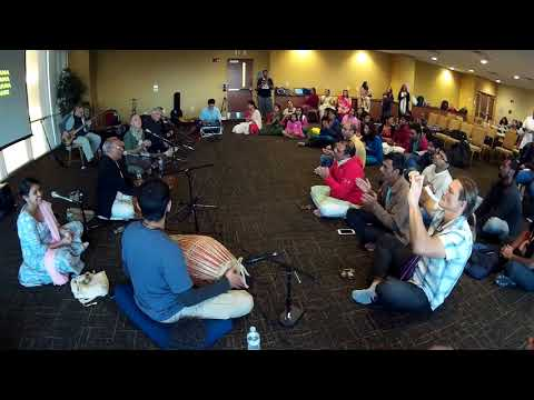 Bhadra Prabhu Chants Hare Krishna at USF Campus Kirtan