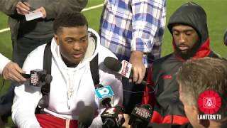 Ohio State QB Dwayne Haskins WR Parris Campbell speak ahead of Rose Bowl thumbnail