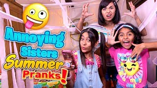 Annoying Siblings Summer Pranks - Funny Skits // GEM Sisters