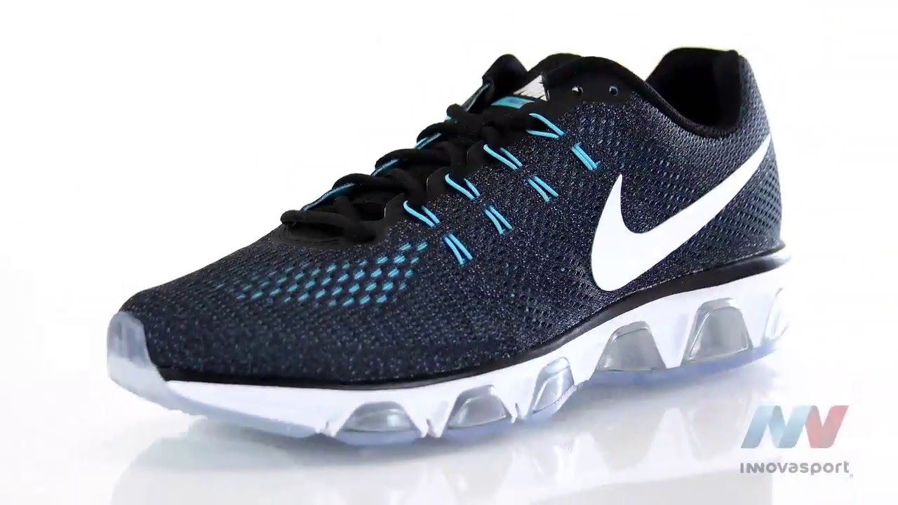 Mens Nike Air Max Tailwind 2010 II Black Grey Blue Running Shoes