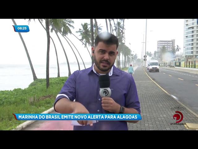 Marinha do Brasil emite alerta para ventos fortes e mar agitado no litoral alagoano