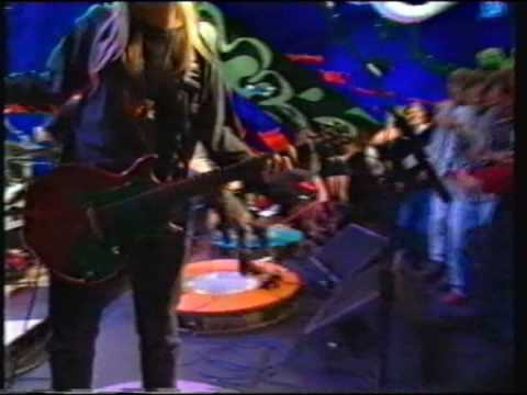 L7 Pretend We're Dead Live on The Word TV show 1992