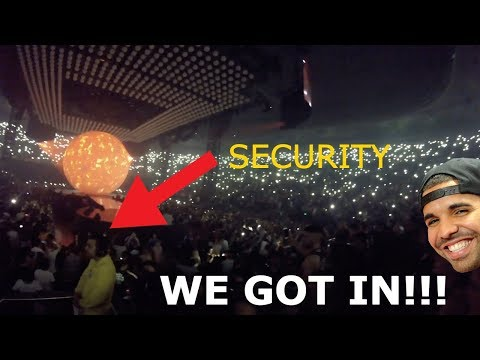 SNEAKING INTO DRAKES CONCERT (MELBOURNE 2017)