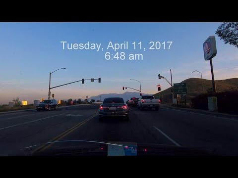 April 11, 2017, 6:48 am. Tuesday Morning Commute to Work