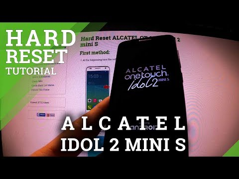 Hard Reset Alcatel Idol 2 Mini S - factory reset by Android settings