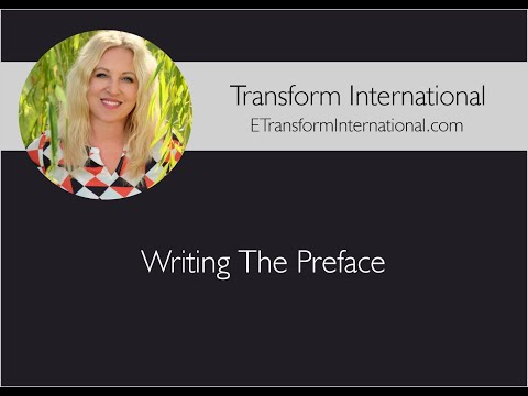 Writing The Preface
