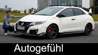 Honda Civic Type R FULL REVIEW test driven 310 hp Sound & Autobahn new neu 2016/2017