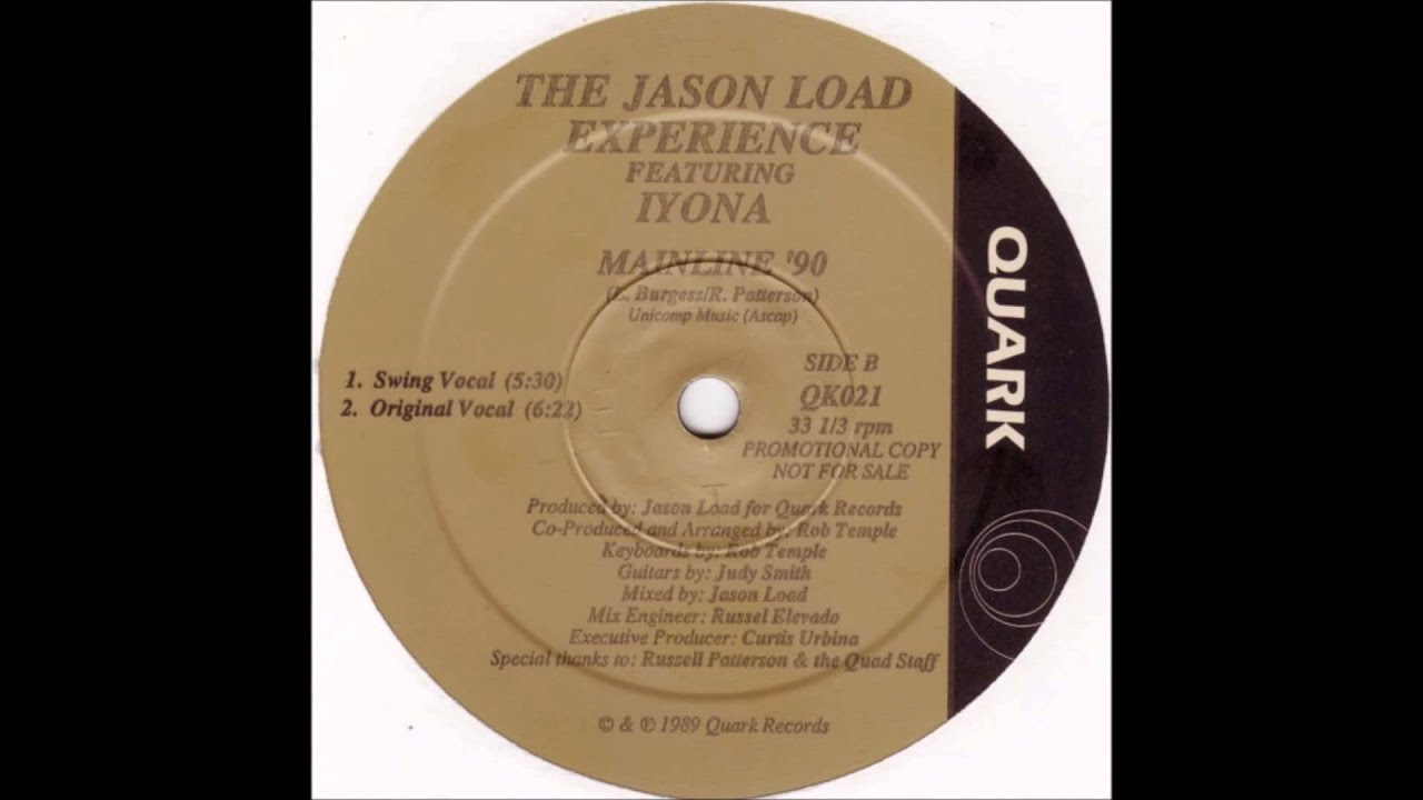 The jason load experience mainline 39 90 original vocal for 90s vocal house