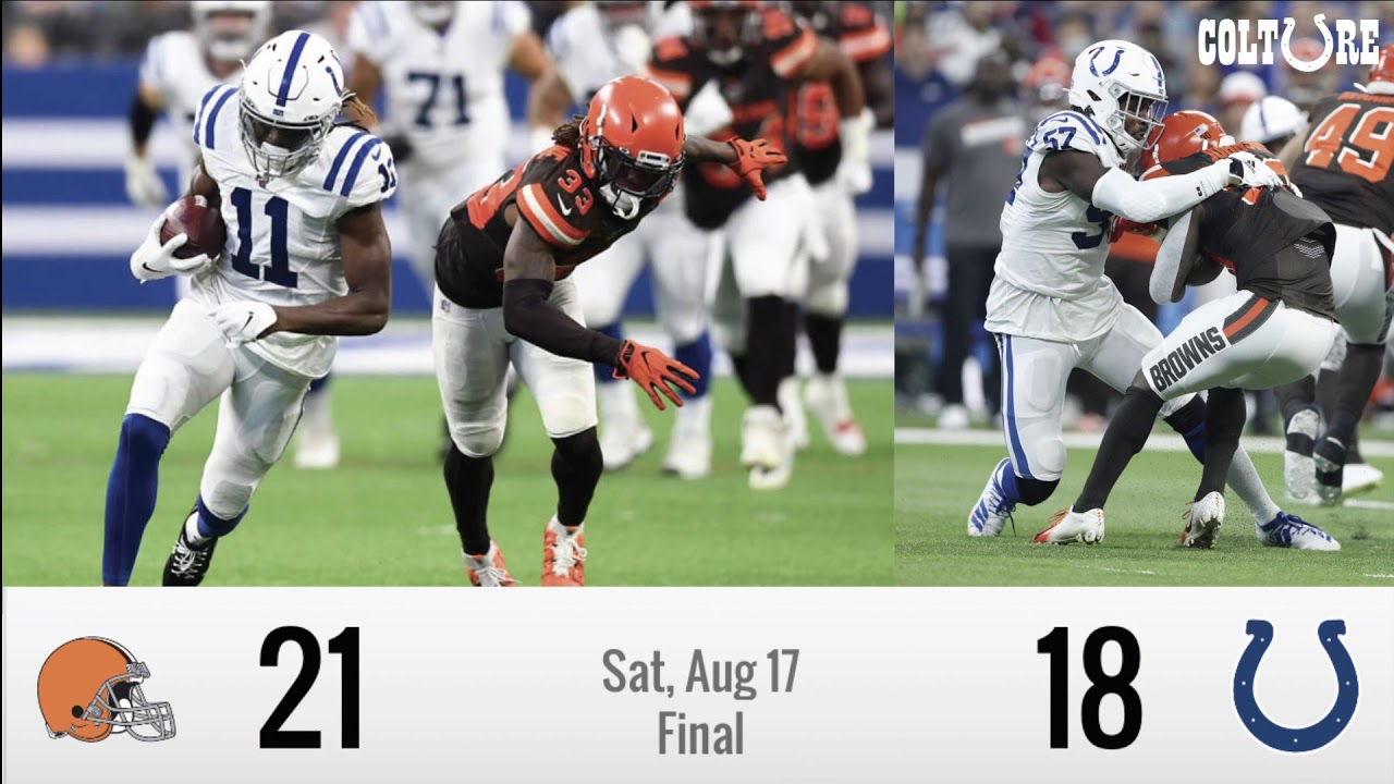 2ff52d9a Preseason] Week 2 Recap: Colts (18) vs Browns (21) | Cain And Turay ...