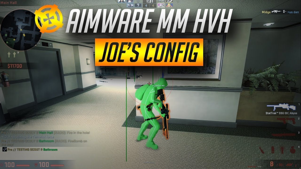 CS:GO - OP Aimware Configs (Awp and Scout included