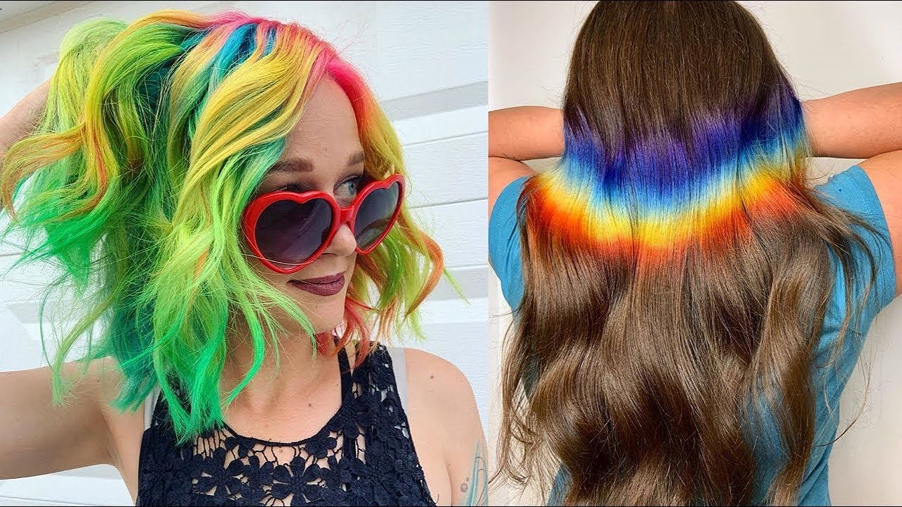 Amazing Rainbow Hairstyles | Colorful Hair Ideas That Are So Cool