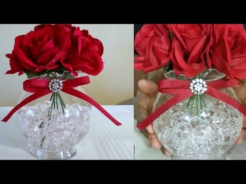 DIY| DOLLAR TREE VALENTINE BLING ROSE DECOR