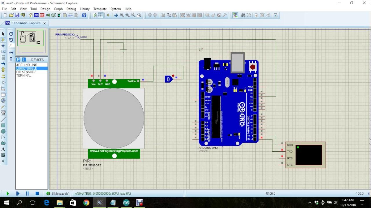Infrared Sensor Simulation Using Arduino Youtube Ir Beam Breaker