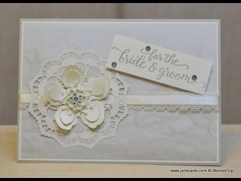 No 242 - Falling for You Wedding Card - JanB UK Stampin' Up! Demonstrator  Independent