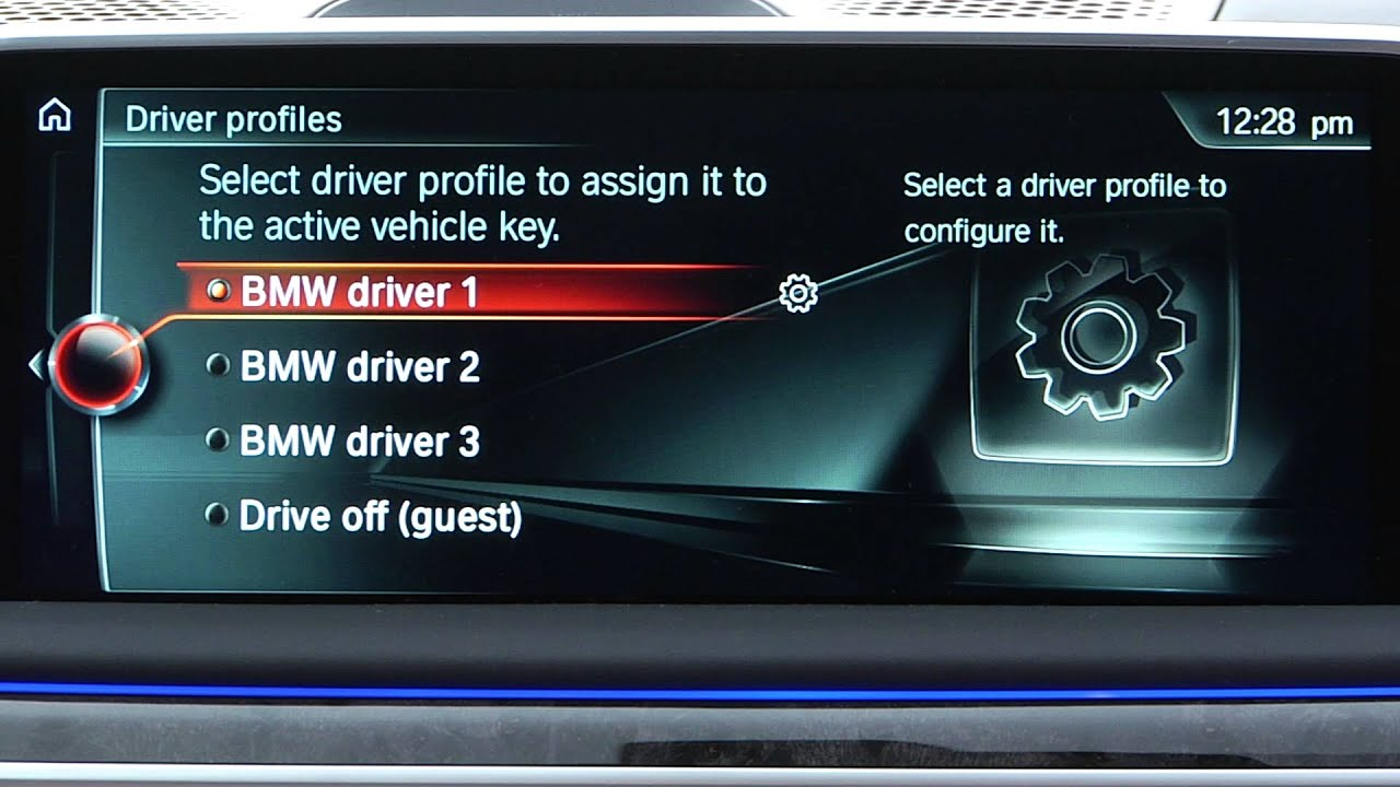 personalize driver profiles bmw genius how to youtube