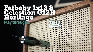 Zilla Fatbaby 1x12 and Celestion G12H Heritage