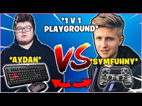 AYDAN & SYMFUHNY Switches Platform & 1v1 Each Other In Playground! (PC Vs CONSOLE)