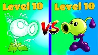 Plants vs Zombies 2 Hack : Goo Peashooter (10)  vs Electric Peashooter (10)