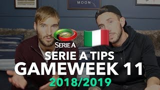 Serie A Tips - Gameweek 11 - 2018/2019