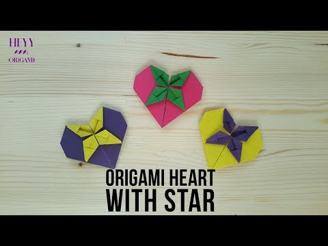 Origami Heart with Star Tutorial