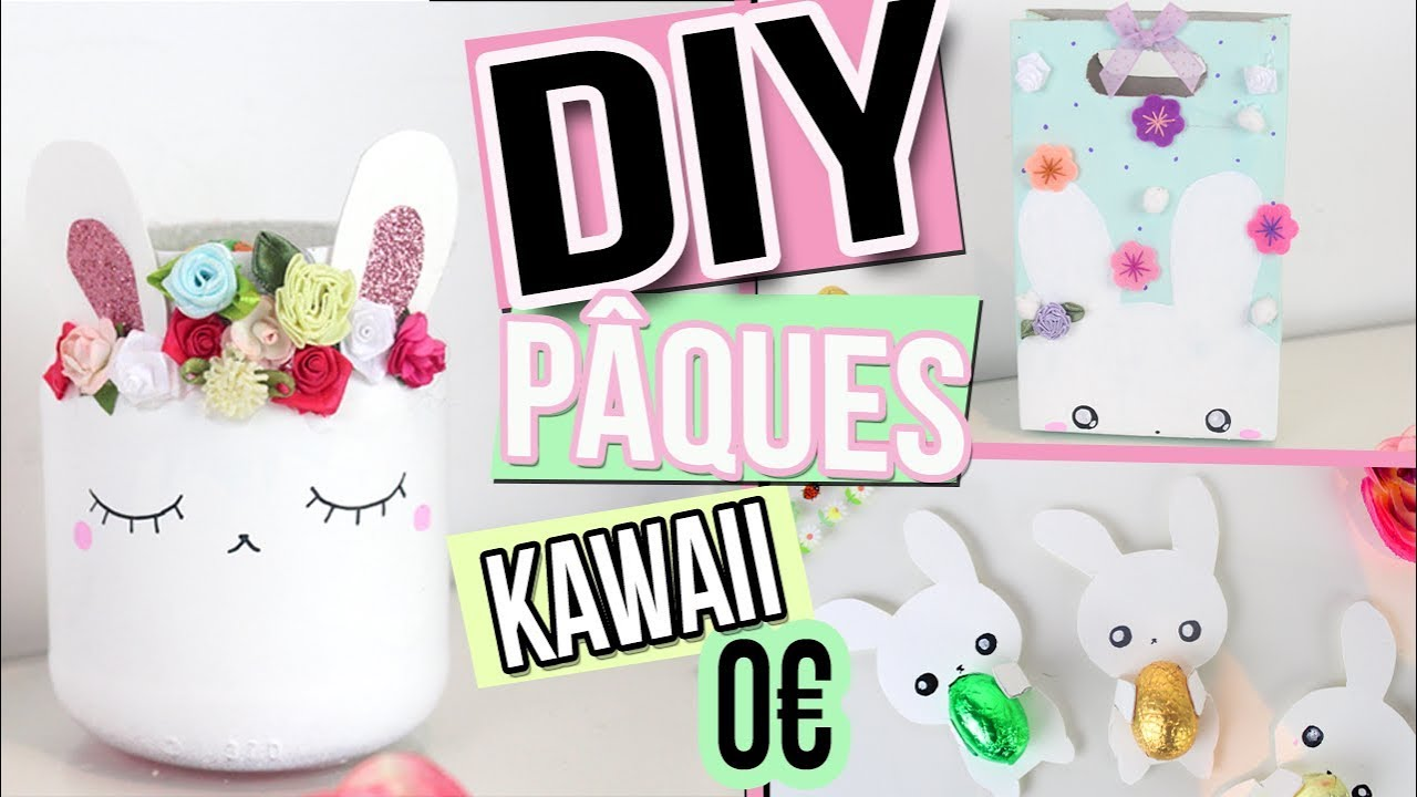 diy 0 deco paques kawaii recyclage easter room decor. Black Bedroom Furniture Sets. Home Design Ideas