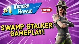 SWAMP STALKER Skin Gameplay In Fortnite!