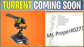 *NEW* Fortnite: MOUNTED TURRET COMING SOON! (Leaked In Season 4)
