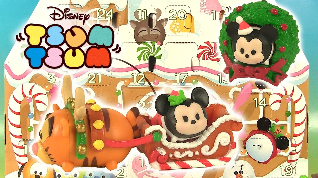24 tsum tsum surprises calendrier de l avent 2016 advent calendar youtube. Black Bedroom Furniture Sets. Home Design Ideas