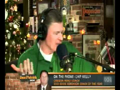 Oregon head coach Chip Kelly interviewed on the Dan Patrick Show 12-22-2010