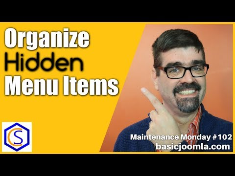 Organize Hidden Menu Items in Joomla 🛠 MM Live Stream #102 thumbnail
