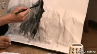 Уроки по пейзажной живописи у-син. Урок 6.2