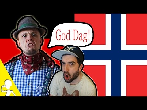 2 Germans Attempting To Speak NORWEGIAN 🇳🇴 Get Germanized And VlogDave