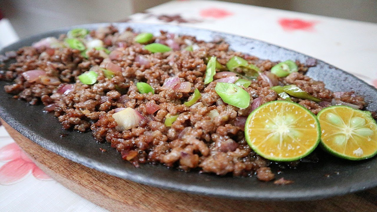 Pinoy Sizzling Ground Beef Sisig Easy And Simple Youtube