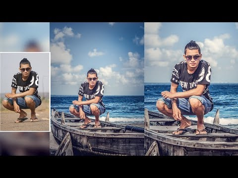 Photo manipulation and background changing  On the boat Pics art edit||Pics art edit tutorail public