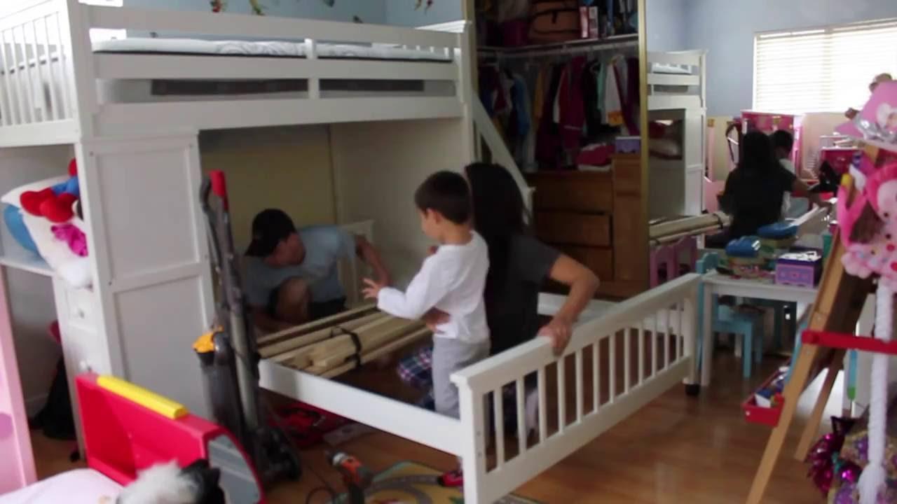 Cuarto de los ni os habitaci n compartida antes y - Habitacion 3 ninos ...