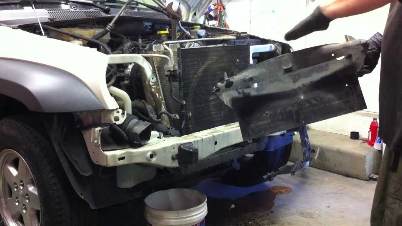 All Types liberty crd : Jeep Liberty Diesel Timing Belt Replacement Part 2 - Radiator and ...