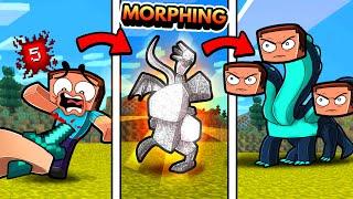 Minecraft but DAMAGE transforms YOU! (Random Morph)