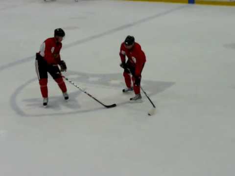 Jonathan Toews and Patrick Kane Practice.  11/15/08