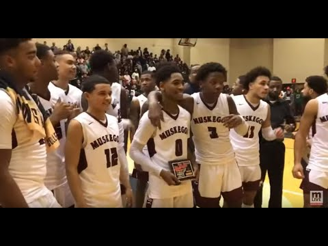 Highlights From Muskegon's 77-74 Win Over Saginaw In Red Hawk Showcase