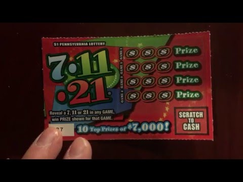 Pennsylvania Lottery 7 11 21 Scratch Off Ticket