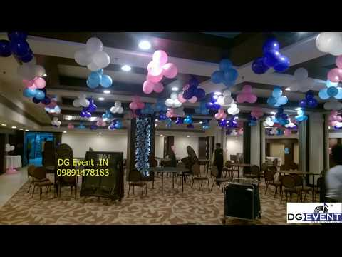 pink n purple balloon decorations for birthday party idea in delhi gurgaon country inn 09990908622