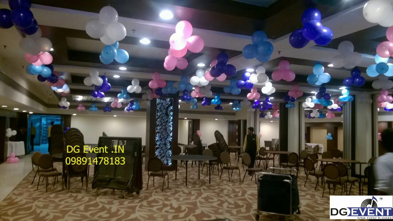 pink n purple balloon decorations for birthday party idea in delhi