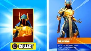 "New GOLD ICE KING Skin UNLOCKED à Fortnite. MAX STAGE 4 ""Ice King"" Skin Unlocked in Fortnite!"