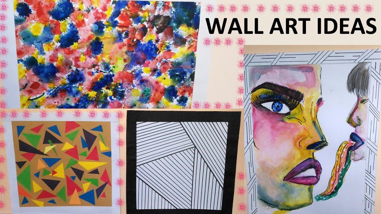 DIY: Creative Wall Art Ideas || 4 Easy To Do Wall Art ... on Creative Wall Art Ideas  id=44713