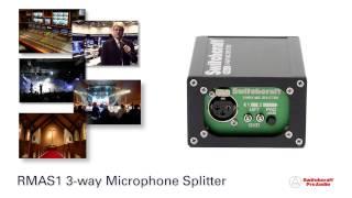 Switchcraft Pro Audio - RMAS1 3-Way Mic Splitter