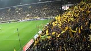 BVB Gänsehaut 2 ! Gelbe Wand gratuliert dem Meister anschl. Aufstellung und Heja BVB  HD