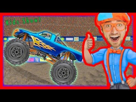 Monster Truck Song Educational Videos For Preschoolers Blippi