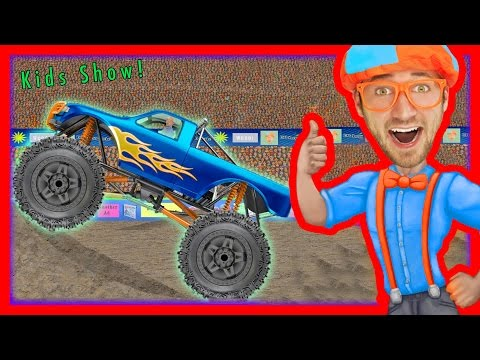 Thumbnail: Monster Truck Song - Educational videos for preschoolers - Blippi